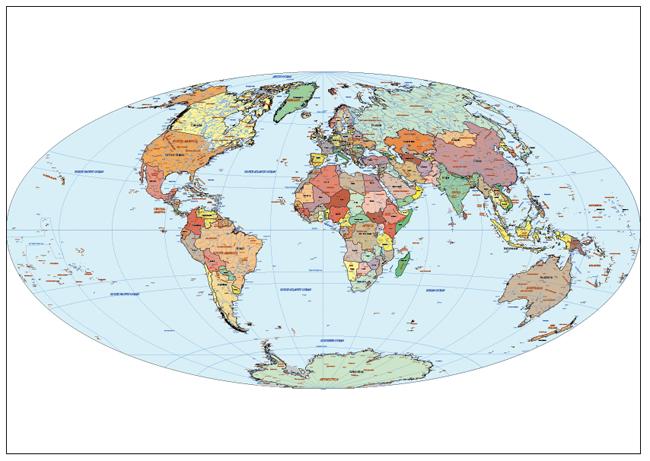 Mapa Mundi Aitoff