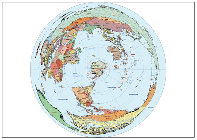 Mapa Mundi Antartic