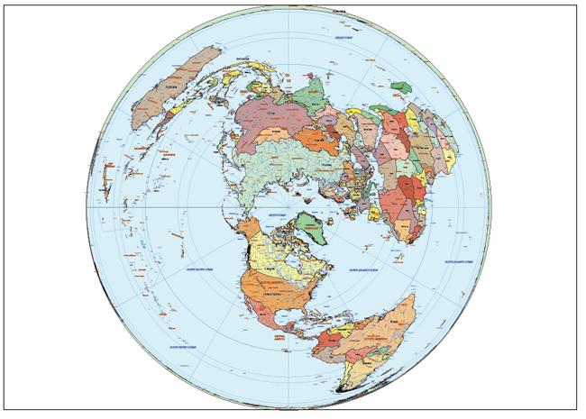 Mapa Mundi Artic