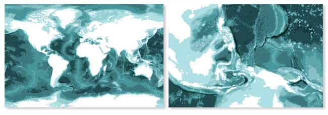 Mapa Mundi Bathym