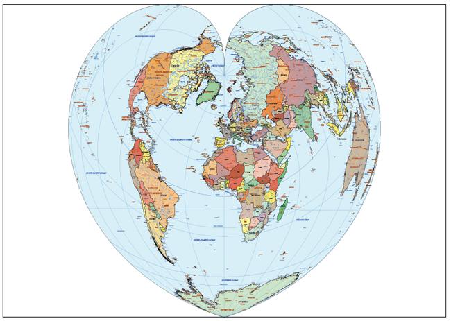 Mapa Mundi Bonne