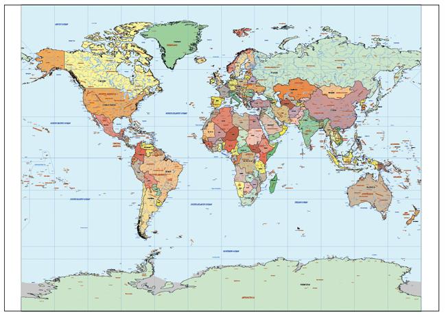 Mapa Mundi Stereographic