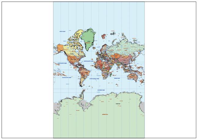 Mapa Mundi Mercantor