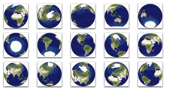 Mapa Mundi Globes