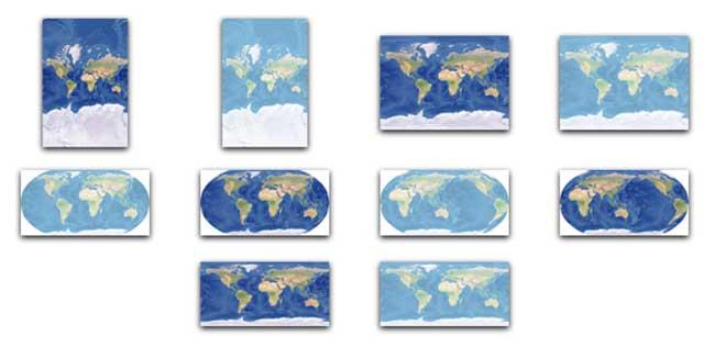 Mapa Mundi Relief