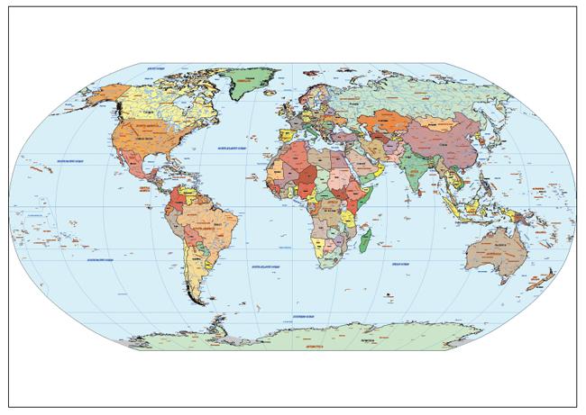 Mapa Mundi Atlantic