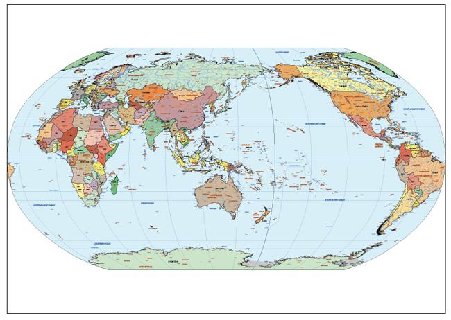 Mapa Mundi Pacific