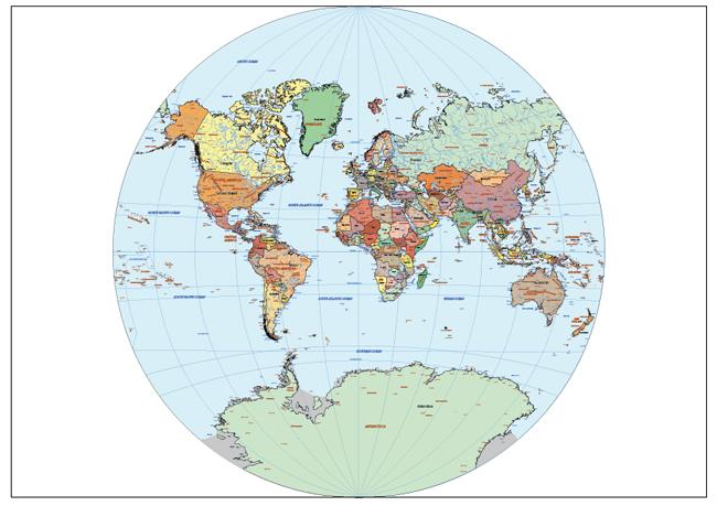 Mapa Mundi Van der Grinten