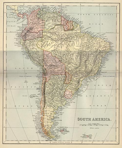 Mapa Mundi Sudamérica
