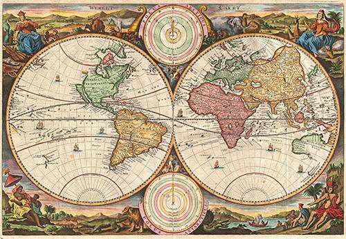 Mapa Mundi Werelt Caert