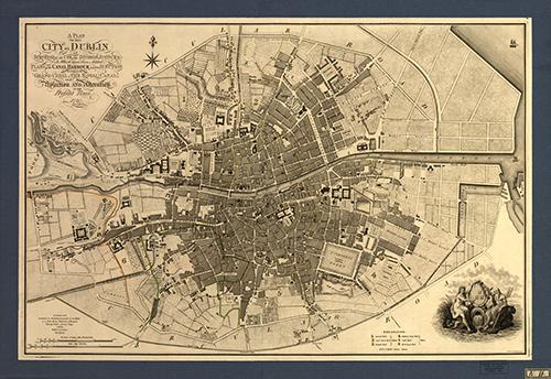 Mapa Dublín J797