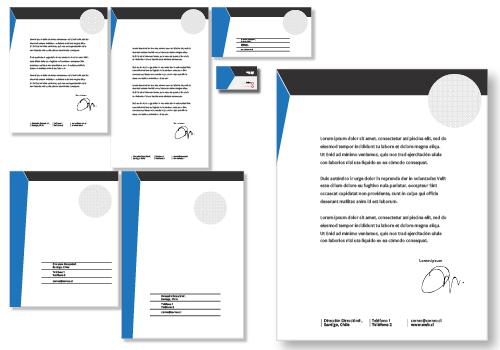 Papelería Corporativa estándar opción 3