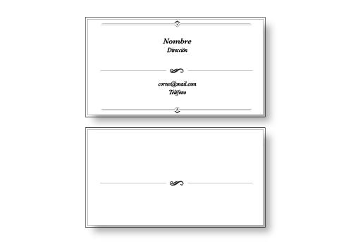 Diseño Tarjetas Presentación opción 4