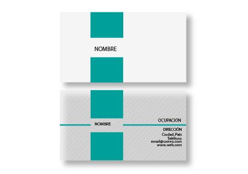 Diseño Tarjetas Presentación opción 7
