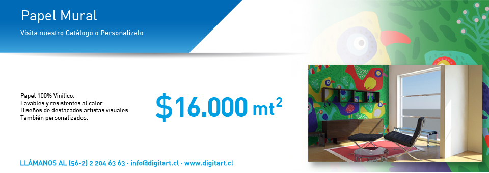 Papel mural promociones gigantograf a pend n roller for Colowall papel mural santiago